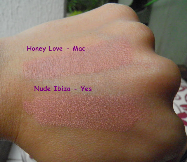 Swatches Batom Mac x Yes