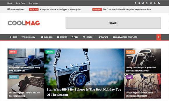 Cool Mag Blogger Template | High Quality Free Blogger Templates