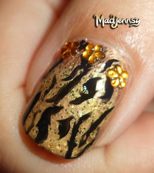 Stylish Gold Tiger Print Nails Diseo Animal Print Madjennsy