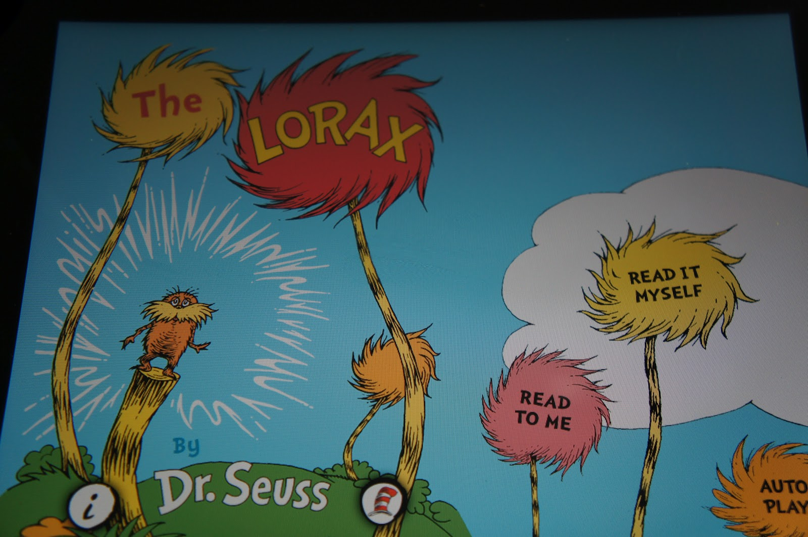 The Lorax Truffula Trees Painting We have been reading the lorax