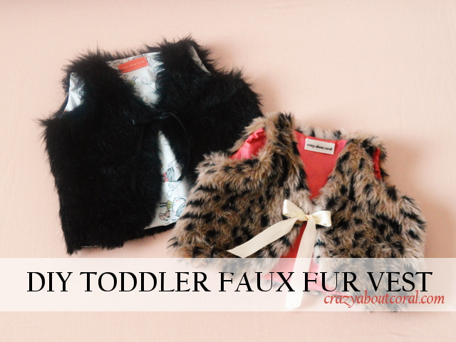Toddler Faux Fur Vest Tutorial A Free Downloadable Pattern