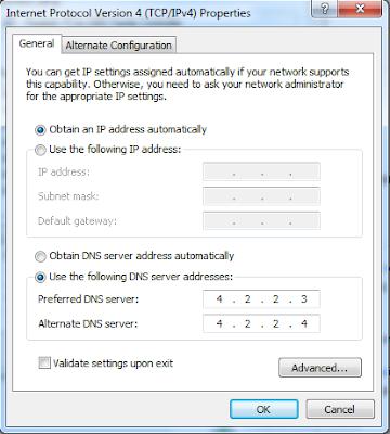 Đổi DNS của Google để vào Facebook khi bị chặn