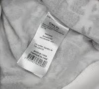етикетка по догляду на одязі