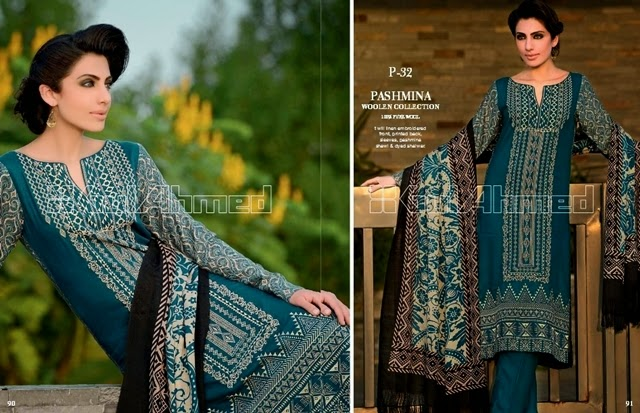 GulAhmed Embroidered Pashmina Woolen 2014-15