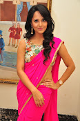Anasuya dazzling saree photos-thumbnail-14