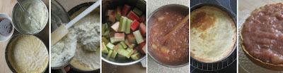 Zubereitungsschritte Rhabarber-Vanilleschmand-Torte