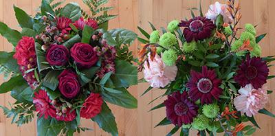 Smukke roser og efterårs buketter