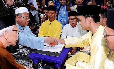Gambar Tomok Siti Rahayu Majlis Akad Nikah