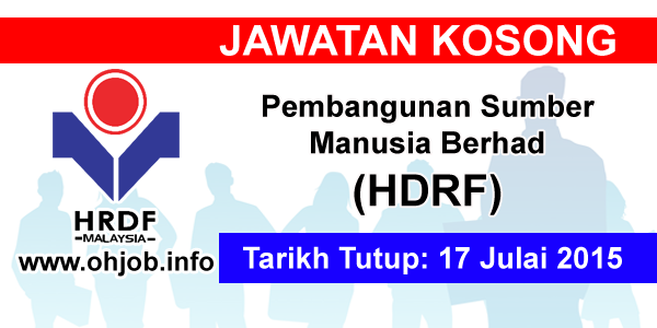 Jawatan Kerja Kosong Pembangunan Sumber Manusia Berhad (HDRF) logo www.ohjob.info julai 2015
