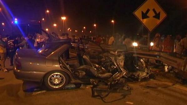 Lagi tragedi kemalangan maut di LPT2 yang meragut 2 nyawa