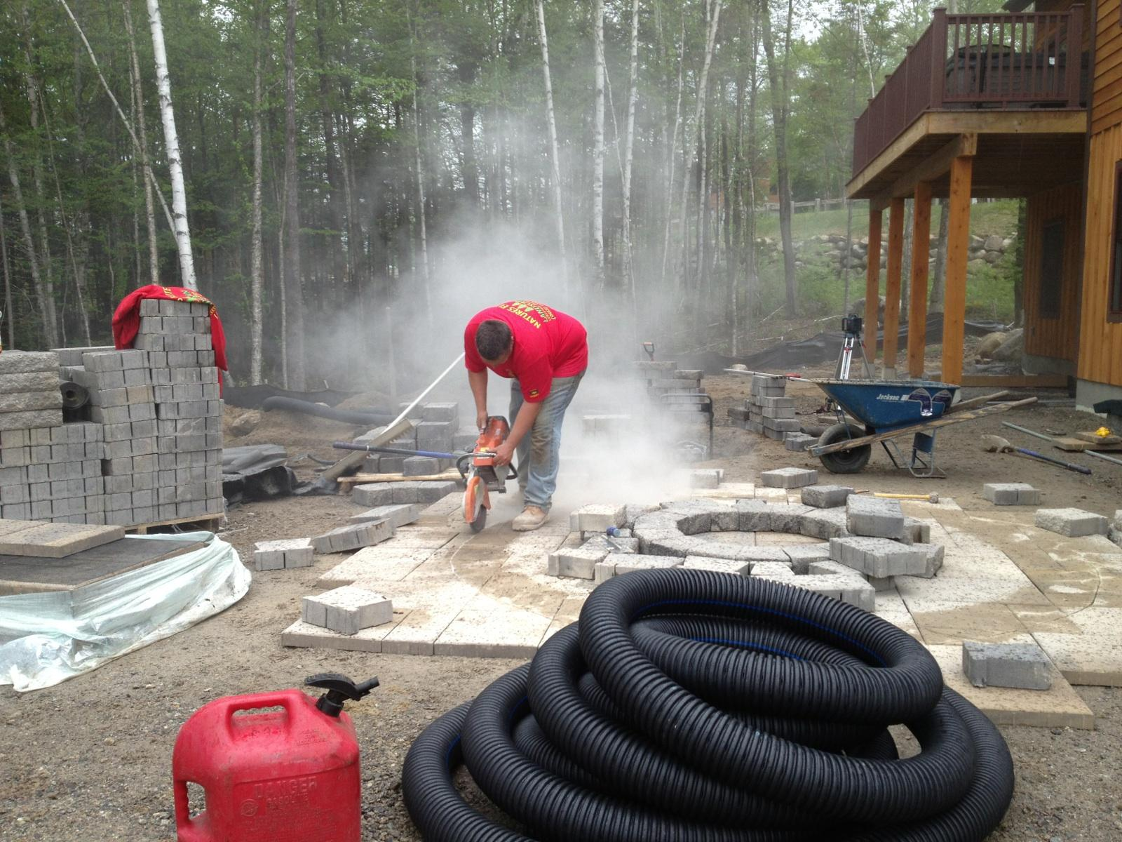 Natures Elite Landscaping Cutting In A Recessed Fire Pit