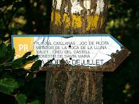 Indicador del PR-C 52 el Sender de la Pobla de Lillet