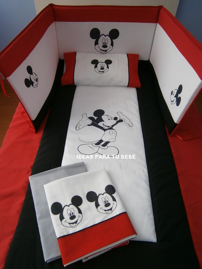 IDEAS PARA TU BEBE: Decoracion con Edredones Mickey Mouse y