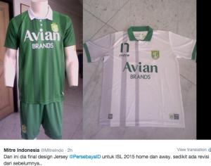 jual online jersey persebaya home away terbaru musim depan kualitas grade ori made in thailand 2015/2016