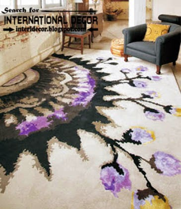 modern printed carpet patterns, patterned carpets and rugs, purple carpets