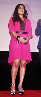 Actress Vidya Balan Pictures in Pink Short Dress at Shaadi Ke Side Movie Trailer Launch 0010.jpg