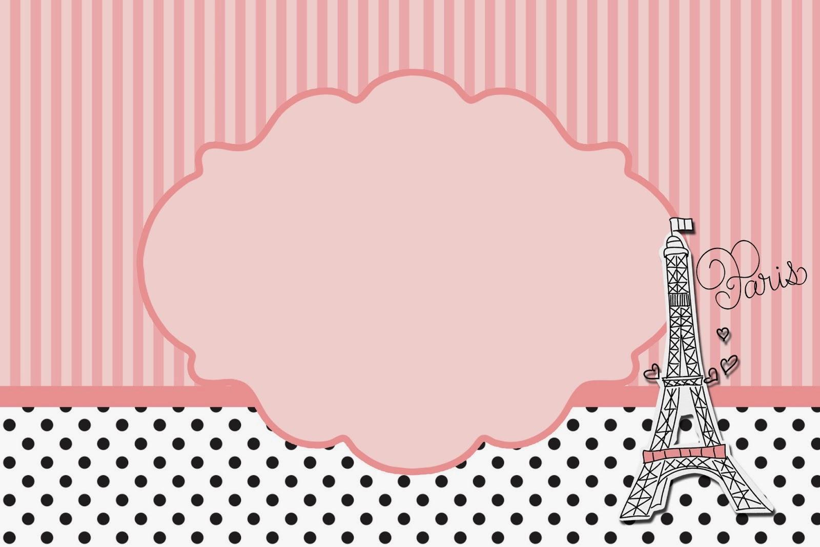 15 Años París: Tarjetas o Invitaciones para Imprimir Gratis ...