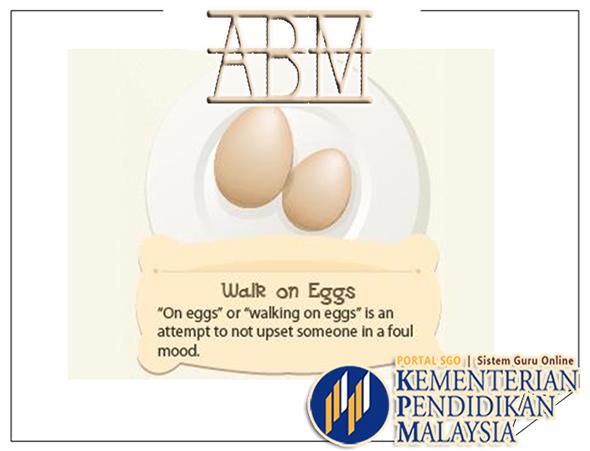 Pedagogi KSSR | ABM English List of Food Idioms