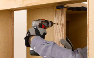 Attach the cabinet adjoining the corner by driving screws through the face frame. & Kitchen And Bathroom Renovation: Variation: Installing Face-Frame ...