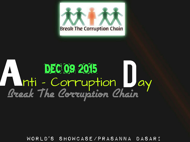 Activating The 'Cure - Option' To Prevent The Prevailing Of Corruption - Anti-Corruption Day Spl. 2015