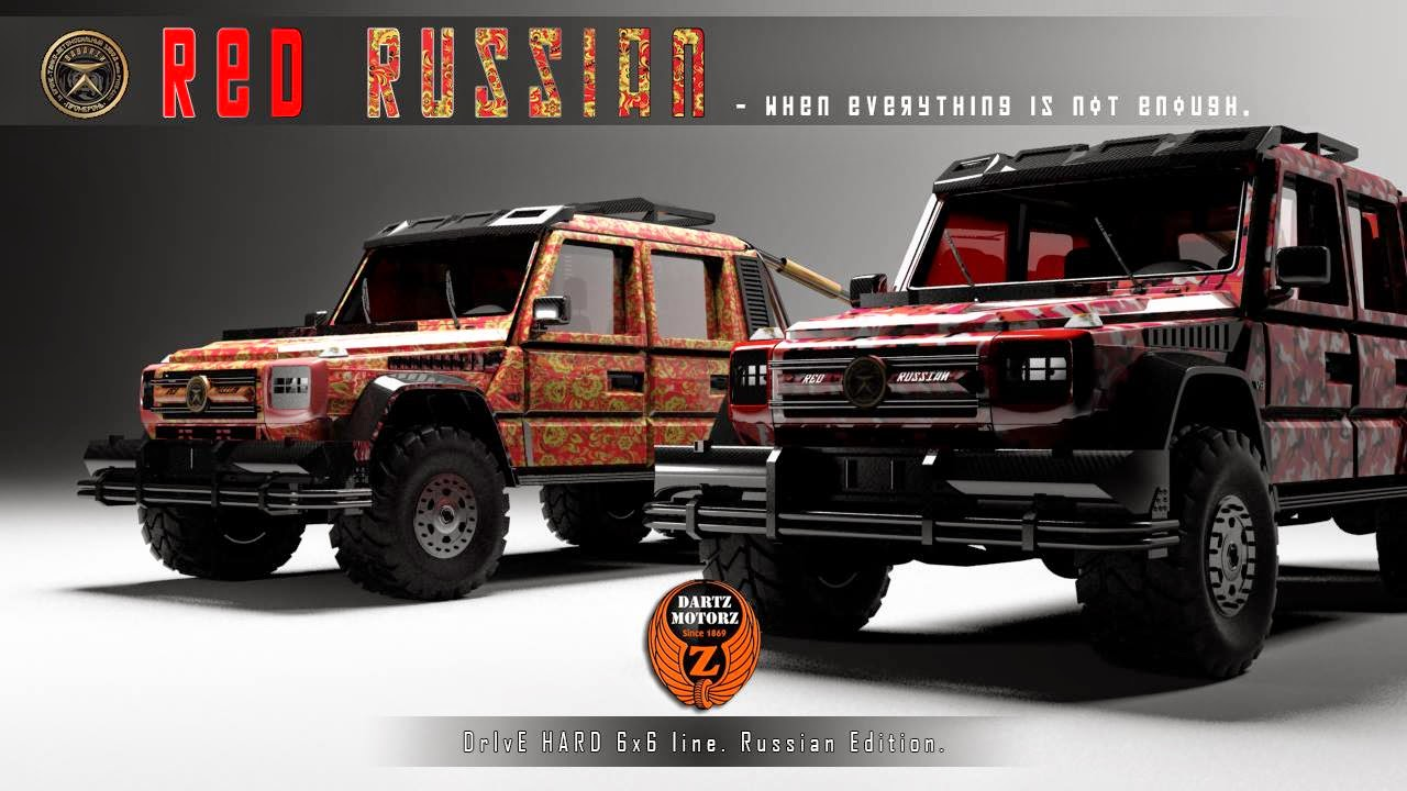 The Red Russian vehicles (6 x 6) super style of Vladimir Putin