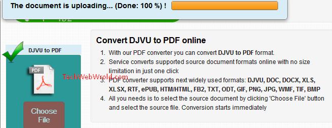 go4convert djvu pdf convert online