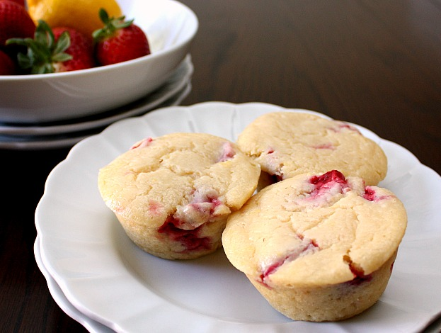 APPLE A DAY: Lemon-Ricotta Muffins with Strawberries