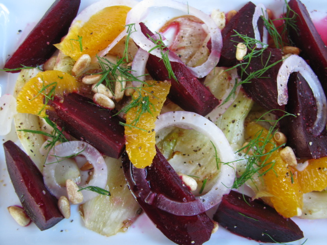 Recipe: Roasted beet and fennel salad