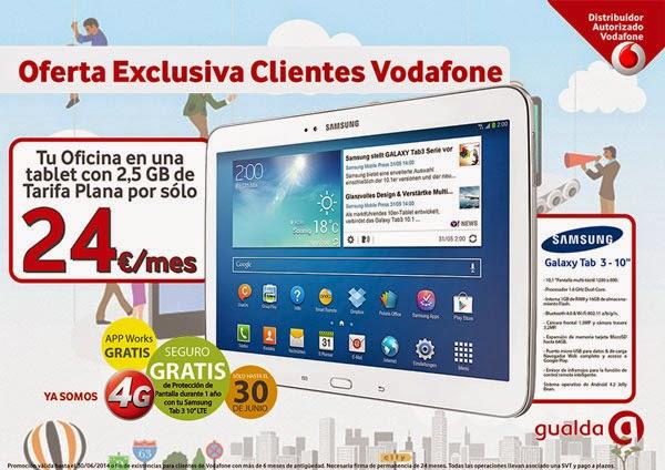 Samsung galaxy tab 3 10 oferta exclusiva para clientes for Oficina vodafone empresas