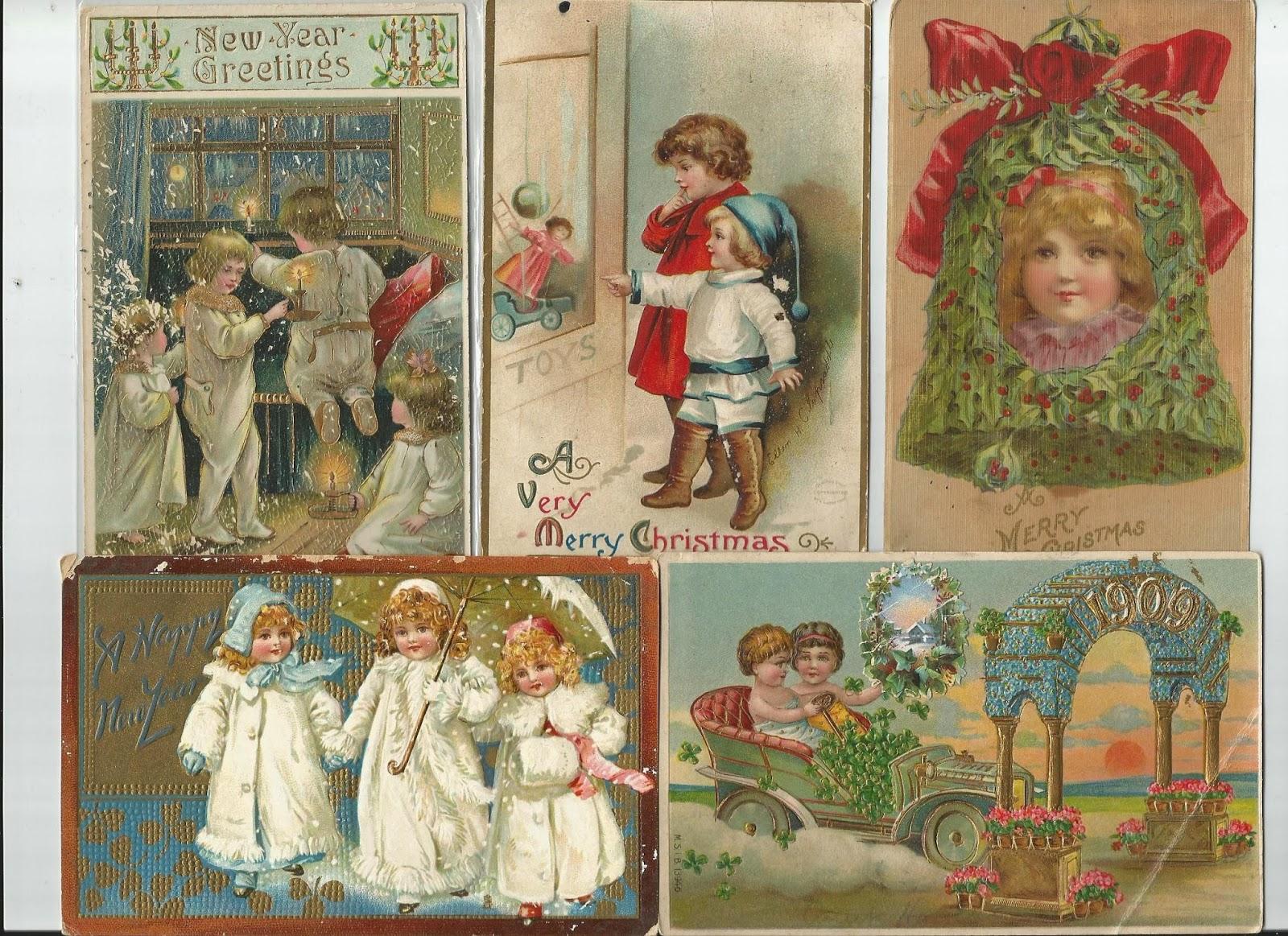 Набор старинная открытка 18
