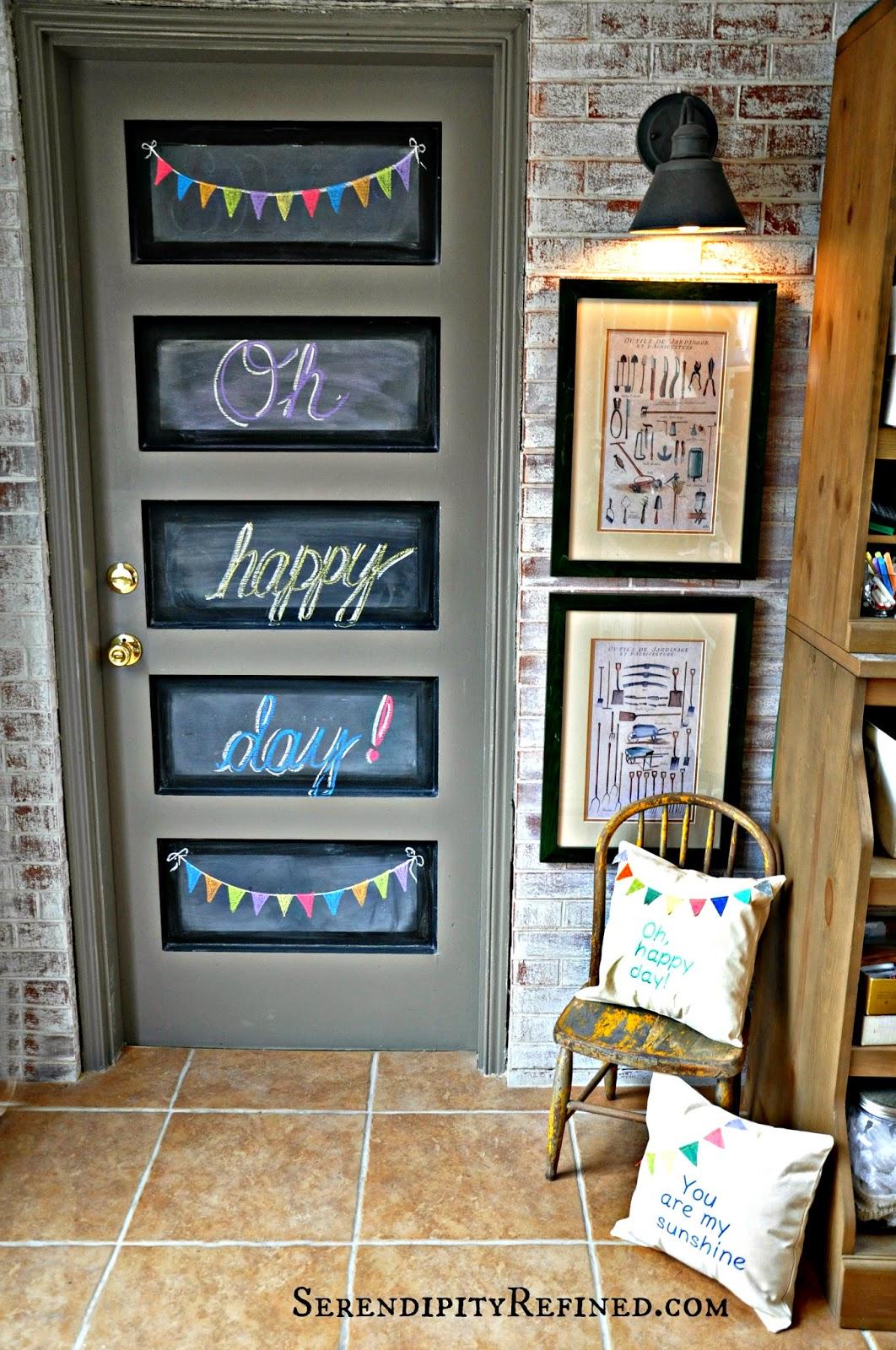 Easy DIY Chalkboard Door Art & Serendipity Refined Blog: Easy DIY Chalkboard Door Art