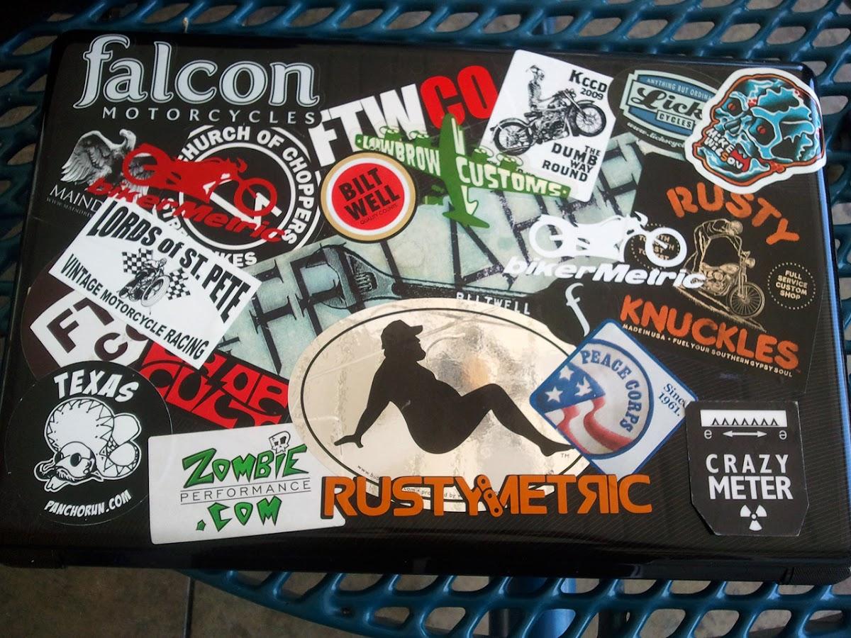 bikerMetric motorcycle stickers