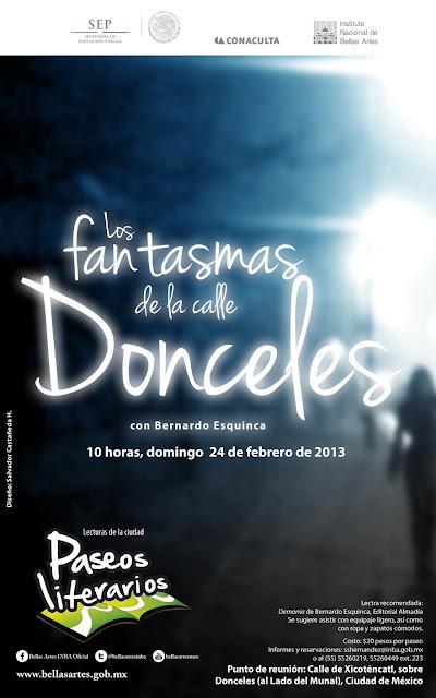 """Paseo literario """"Los fantasmas de la calle Donceles"""" con Bernardo Esquinca"""