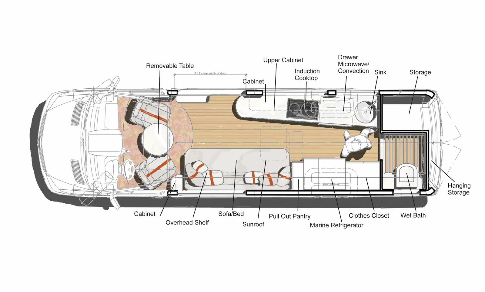 Mcm design custom motorhome design 3 for Motorhome plans