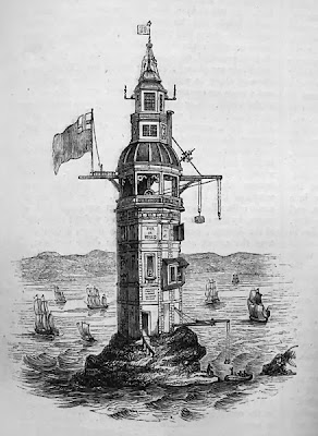 Winstanley's Lighthouse at the Eddystone,1860
