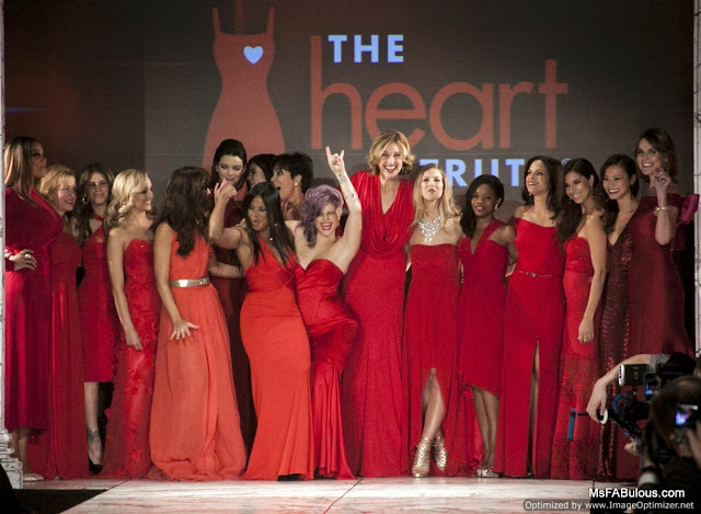 red dress fashion show 