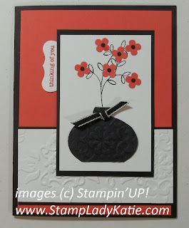 Card made with Stampin'UP!'s Ornament Punch used as a Vase. Made by StampLadyKatie