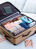 Truque para evitar que a roupa se engelhe na mala