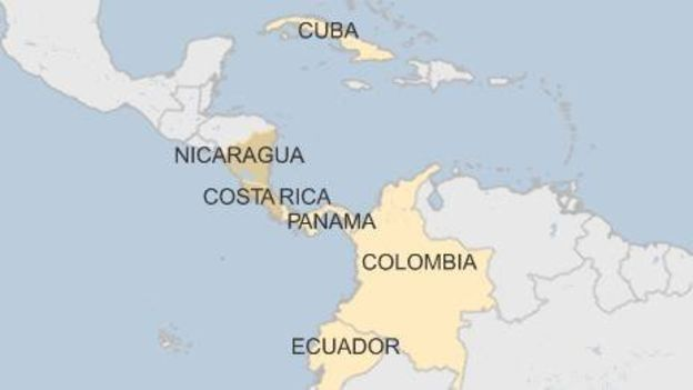 The USCubaMAFIA Triangle Cubaninsider - Us and cuba map