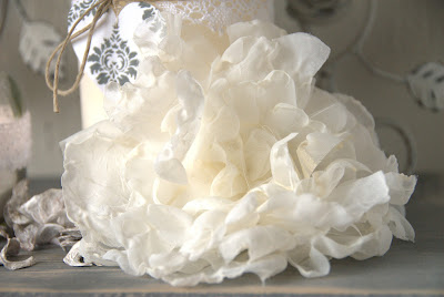 Handmade Flower - Stoffen bloem jalien