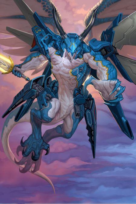 Lius Lasahido deviantart ilustrações fantasia arte conceitual Criatura alada cibernética