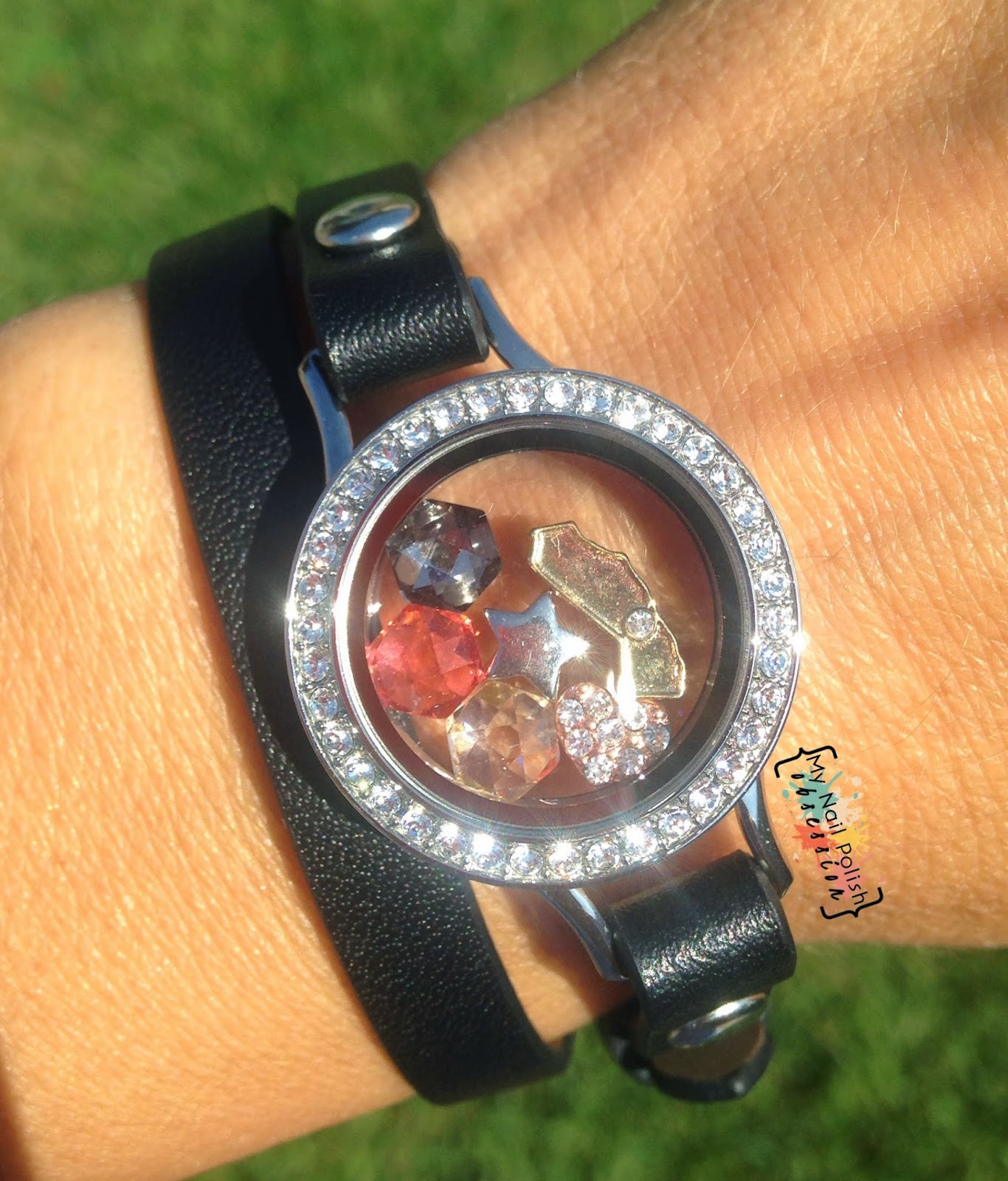 My Nail Polish Obsession FASHION REVIEW Origami Owl Genuine Leather Wrap Bracelet
