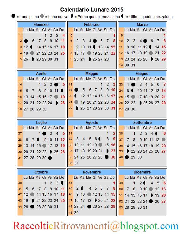 Calendario astrologico 2016 for Calendario lunar de hoy