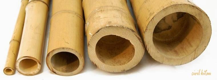 Bambu bahan konstruksi for Canne di bamboo da arredo