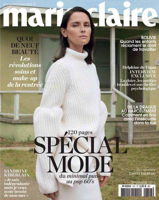 Model @ Tasha Tilberg for Marie Claire France, September 2015