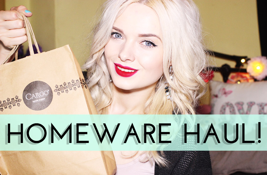 Homeware haul, Cargo homeware Hauk Mypaleskin blog