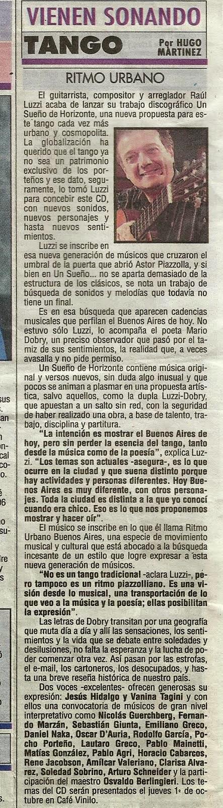 "Raúl Luzzi ""Sueño de Horizonte"""