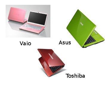 Laptop dengan Warna Ceria