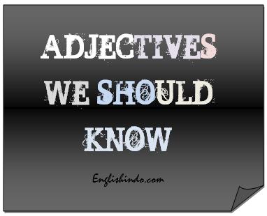 jenis kata sifat bahasa inggris