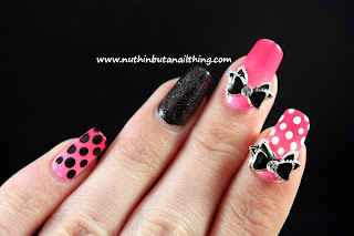 models own bubblegum butter london black night sinful colors nail art